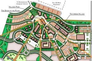 The conceptual site plan for Gold Hill Mesa.